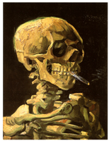 Skull-with-cigarette-van-gogh