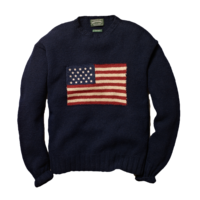 Hand-knit-wool-flag-sweater