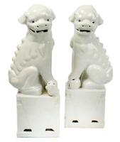 White-foo-dogs