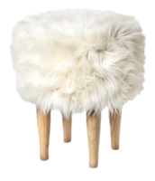 Faux-fur-stool