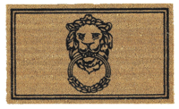 Lion-doorknocker-coir-mat-ballard-designs