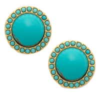 Turquoise-button-earrings-macys