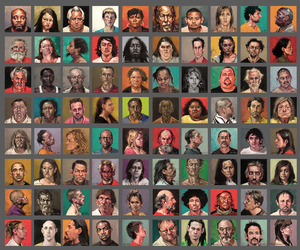 100 Faces, Paintings from Mugshots