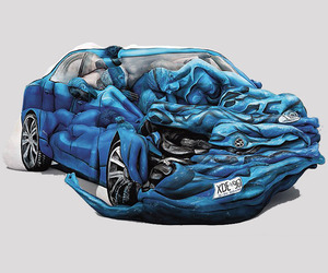 17 Painted Bodies Make A Car Wreck