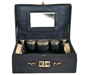1920's Cartier Leather Cosmetic/Makeup Case at Relique