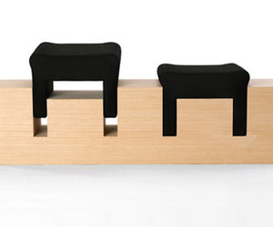 2 Stool Bench by Nir Meiri