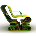 A-curved-lounge-chair-with-built-in-book-storage-s