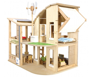 A Green Dollhouse from Plan Toys