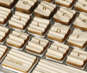 A Keyboard Made of Wood by Michael Roopenian
