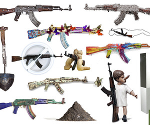 AK-47 Assault Rifles Transformed For Peace