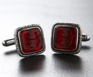 Androclus-the-lion-ruby-silver-cufflinks-m