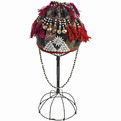 Antique-hmong-tribe-beaded-hemp-baby-girls-hat-on-stand-s