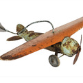 Antique-painted-pressed-steel-airplane-weather-vane-s
