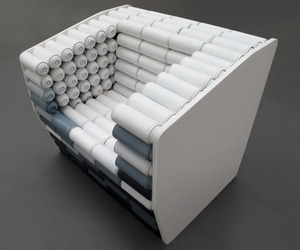 Armchair Made From Spray Paint Cans