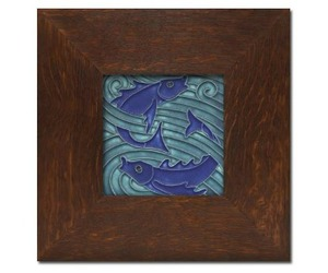 Art-nouveau-framed-fish-tile-from-motawi-m