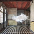 Artist-creates-real-clouds-inside-s