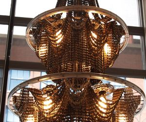 Bespoke Chandeliers Created from Recycled Bicycle Parts