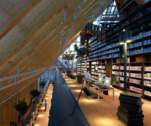 Book Mountain in the The Netherlands by MVRDV