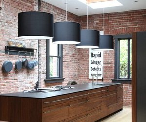 Brick + Wood Kitchen
