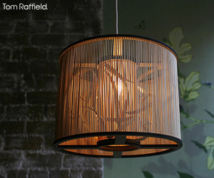 Cage pendant light by Tom Raffield