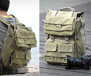 Careell-canvas-camera-backpack-m