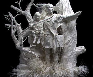 Cast-paper-sculptures-of-allen-and-patty-m