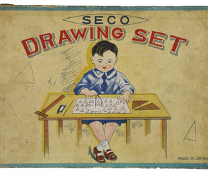 Circa 1930 Antique Seco Drawing Set from Japan