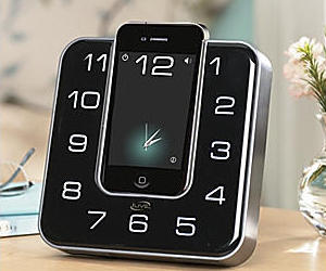 Clock Radio Plays and Charges Your iPhone