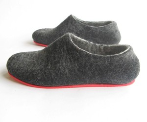 Color-block-red-sole-wool-shoes-charcoal-men-all-sizes-m
