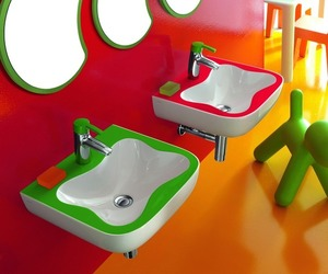 Colourful Children's Bathroom by Laufen