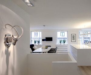 Contemporary White Duplex Apartment in Stockholm