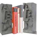 Cool-cast-concrete-bookends-for-letter-lovers-s