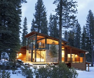 Cozy modern mountain retreat in lake tahoe by sagemodern for Lake tahoe architecture firms