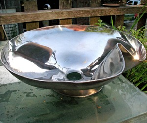 """Crenelated Stainless Steel Sink"" with interior polish"