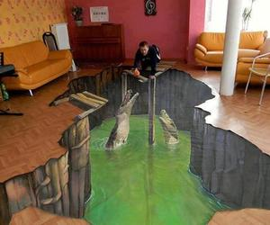 Crocodile 3D Home Floor Art