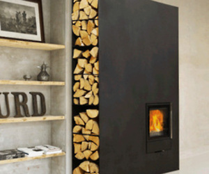 Cubic Woodstove / Fireplace from Wittus