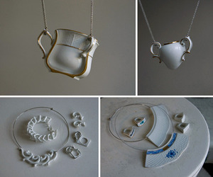 Designer Eszter Imre Designs Ceramic Table Wear Jewelry