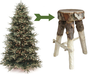 Discarded-christmas-trees-become-stools-m