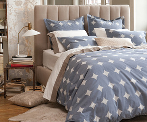 DwellStudio's Duvet - Ikat Dot Indigo