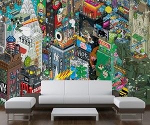 eBoy's Pixelated Art Available As Wall Murals &amp; Wallpaper!