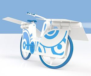 Eco Bike, Concept Generates Solor Energy 