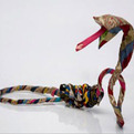 Eco-friendly-sculpture-from-discarded-clothes-s