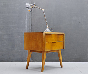 Swedish Modern Birch Wavefront Nightstand | Edmund Spence