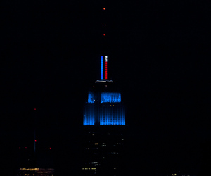 Empire State Lit Up With Color Technology For Election
