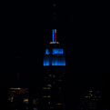 Empire-state-lit-up-with-color-technology-for-election-s