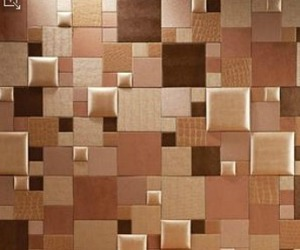 Faux leather wall tile for Faux leather floor tiles