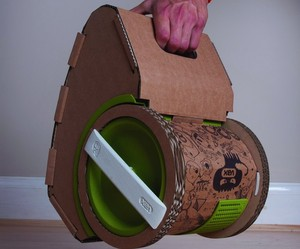 First CARDBOARD vacuum cleaner using recycled packaging