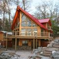 First-leed-platinum-log-home-s