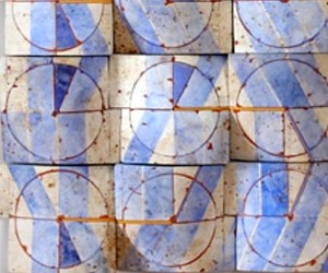 Flow: Curved Ceramic Tile by Regina Heinz
