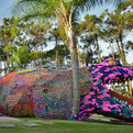 Giant-crocheted-alligator-s